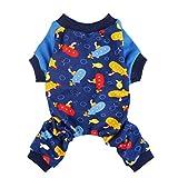 Fitwarm Soft Cotton Adorable Submarine Dog Pajamas Pet Clothes Shirts PJS, Blue, Medium Review