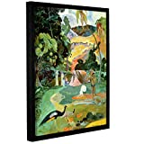 Paul Gauguin's Matamoe, Landscape With Peacocks, Gallery-Wrapped Floater-Framed Canvas 36X48 Paul Gauguin Matamoe, Landscape With Peacocks, Gallery-Wrapped Floater-Framed Canvas is a high-quality canvas print depicting an abstract tropical landscape....