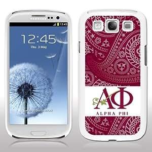 Alpha Phi Samsung Galaxy S3 White Slim Case - Paisley Print