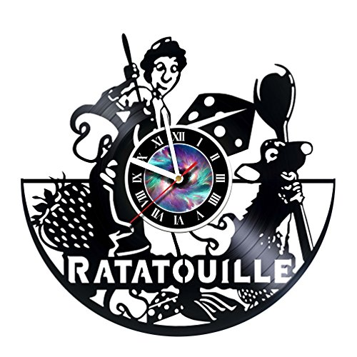 - StepArtHouse Ratatouille – Handmade Design Vinyl Record Wall Clock - Unique Gifts for him her Gift Ideas for Mothers Day Father Birthday Anniversary Wedding Cute and Original Gifts for Everybody