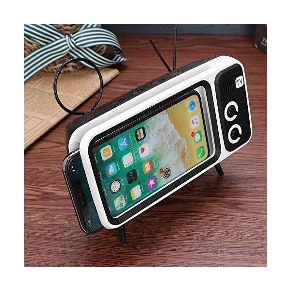Domybest Enceinte Bluetooth Portable Mini Haut-Parleur Bluetooth Support de Téléphone de Forme TV Rétro Lecteur de Musique Sound Box Bluetooth Portable sans Fil 5