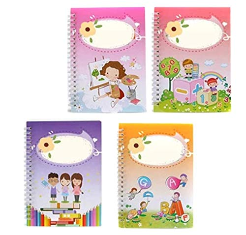 Odebao Magic Practice Copybook for Kids English Magic Calligraphy That Can Be Reused Alphabet Handwriting Set Repeatedly Practice Sank Flownwing Lettering Cursive Practical Number Tracing Board Pens