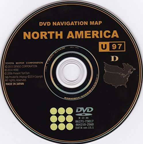 2015 TOYOTA NAVIGATION DVD V15.1 (U97) GEN 6 MAP UPDATE DVD (Dealer Prius Toyota)