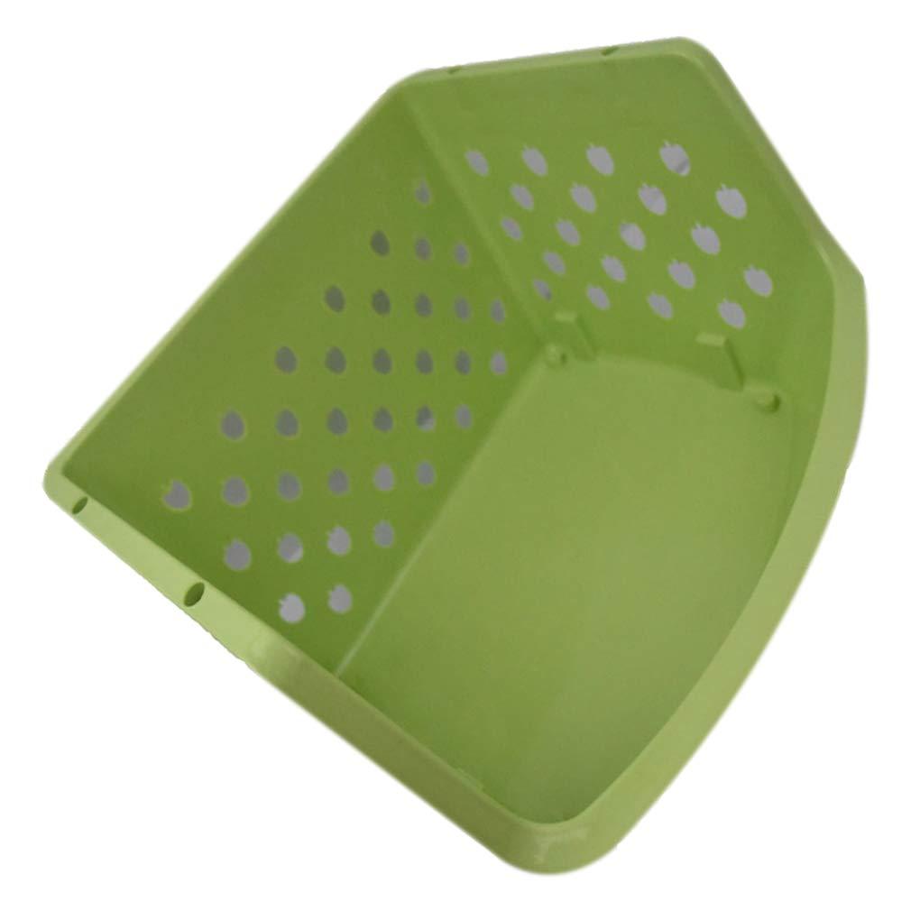 Zerama Folding Plastic Storage Basket Kitchen Shelf Rack Basket Collapsible Utility Organizer Bathroom Kitchen Food Holder