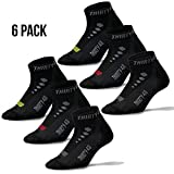 Thirty 48 Low Cut Cycling Socks for Men and Women | Black Mixed 6-Pack - Small
