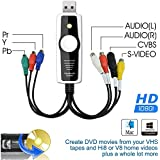 DigitNow Digital High Definition/Ypbpr(576i 480p) VHS and Camcorder USB Video Capture Kit for Mac OSX and Windows Copy,Convert,Transfer Video To DVD,USB Storage or Upload Captured Video To Internet