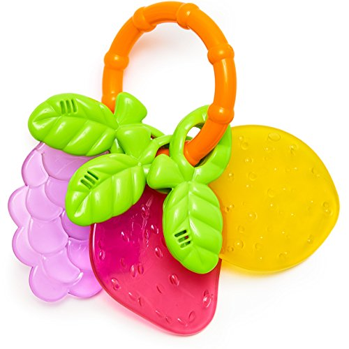 Mother Panda Baby Teether Fruits Rattle Toy
