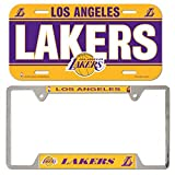 WinCraft Bundle 2 Items: NBA Los Angeles Lakers 1 Metal License Plate Frame and 1 Plastic License Plate