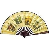Oriental Style Folding Fan Hand Fan Handfan Handheld Fan Perfect Gift, D