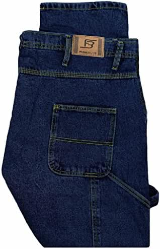 Big Men's Carpenter Denim Jeans Pants by FullBlue #594B Dark Wash
