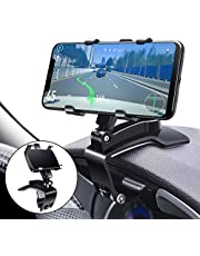 Car Phone Mount, FONKEN Cell Phone Holder for Car 360 Degree Rotation Dashboard Clip Mount Car Phone Stand Compatible for iPhone 11/ 12 Pro Max XS Max XR 8 8Plus 7 Samsung Galaxy S10 S9 S8 LG And More
