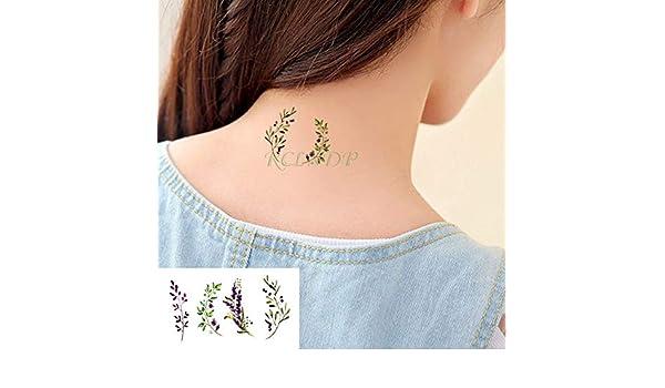 ljmljm 6 Piezas Impermeable Tatuaje Pegatina árbol de Coco Planta ...