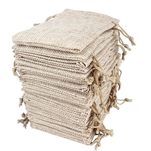 30 Pack Burlap Gift Bags with Drawstring 5 x 3.5