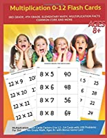Multiplication 0-12 Flash Cards - Ages 8+ 3rd