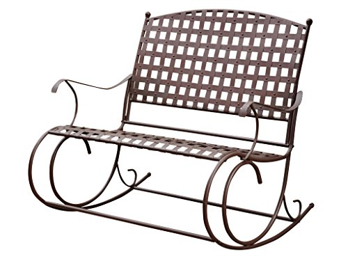 International Caravan 3567 Santa Fe Iron Nailhead Double Rocker Loveseat
