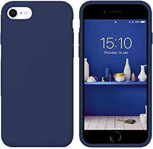 """IceSword iPhone SE 2020 Silicone Case Blue [Upgraded 2nd Generation], iPhone 7/8 (4.7""""), Liquid Silicone Gel Rubber, Full Body Shockproof, Drop Protection (4.7"""") iPhone 7/8/iPhone SE 2020 - Blue"""