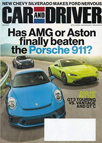 Cover: Five-Hundred-Horsepower Sports Coupes for the Merely Wealthy 2018 TESLA MODEL 3 Aston Martin V8 Cygnet LEXUS UX BMW X5 MclAREN 600LT Hyundai Santa Fe AUDI Q3 Car and Driver Magazine KIA FORTE
