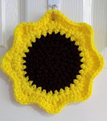 Double strand Sunflower Crochet Pot Holder