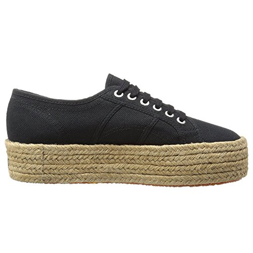 Superga Womens 2790 Cotropew Black Canvas Trainers 9 US Deal (Large Image)