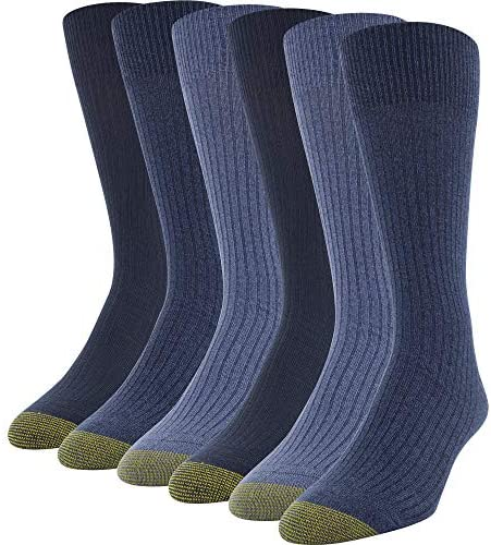 Gold Toe Men's Stanton Crew Socks, 6 Pairs