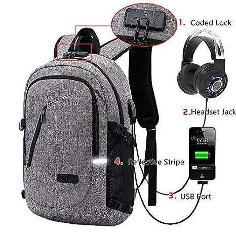 new product e61be eb995 Amazon.com: Itopfox Travel Laptop Compartment Backpack USB/Headphone ...