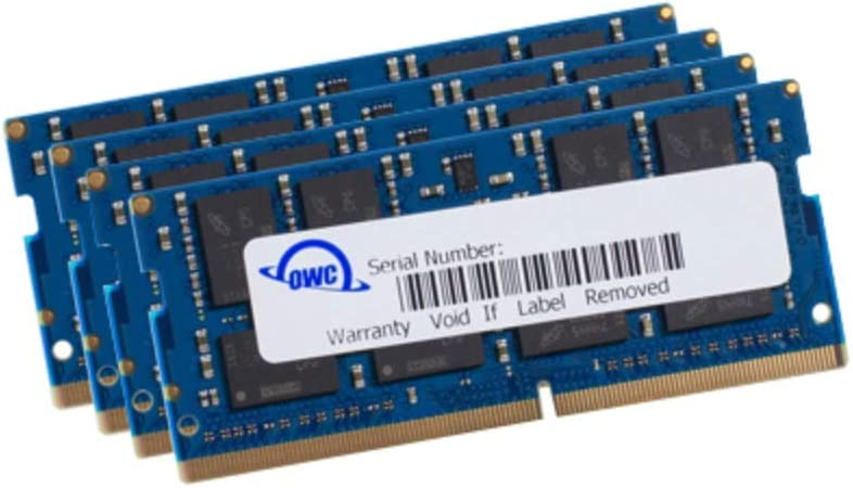 OWC 128GB (4 x 32GB) 2666MHz DDR4 PC4-21300 SO-DIMM 260 Pin Memory Upgrade, (OWC2666DR4S128S), for 2019-2020 27 inch iMac (iMac19,1 iMac20,1 iMac20,2) and PC laptops
