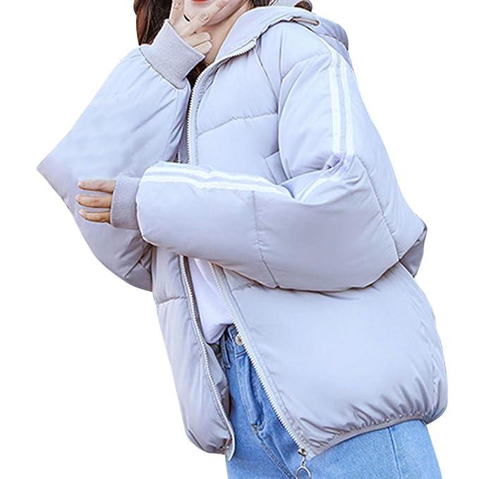 51959c01a35f Amphia Abrigo Corto Mujer, Abrigo con Capucha -Abrigo De Colores -Abrigo  Mujer Primavera Plumas -Abrigo De Algodon -Chaqueta con Cremallera Chaqueta  Mujer: ...