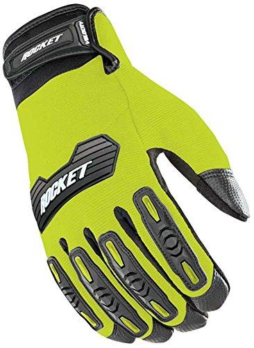 Black Rocket Mesh Joe Glove (Joe Rocket Velocity 2.0 Motorcycle Glove Hi-Viz Yellow & Black X-Large)