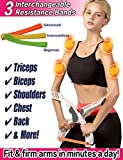 Scarmat Arm Workout Machine System Excerise with 3 System Resistance Training Bands Fitness Equipment for Women Tones Strengthens Arms Biceps Shoulders Chest New Generation