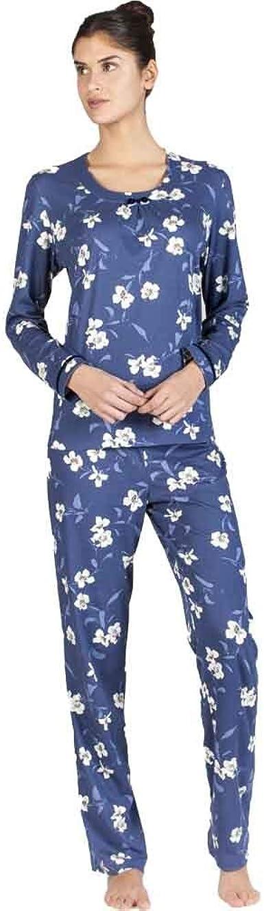 Egatex Pijama de Mujer Estampado Flores 182517 - Azul, XXL ...