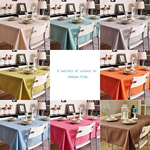 DKMOH Linne bordsduk skrivbordsskyddsmatta tvättbar vardaglig köksbordsduk för fester utomhus picknick flera storlekar (färg: Beige, storlek: 100 × 140 cm)