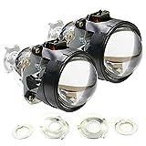 "iJDMTOY® (2) 2.5"" Mini H1 Bi-Xenon HID Projector Lens For Headlights Retrofit Custom Headlamps Job"