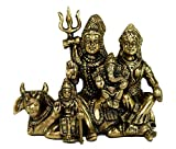"StonKraft Ideal Gift - Brass Shiv Shiva Parivar Murti Idol Statue Family Sculpture (4.5"") Brass Decorative Worship Idol"