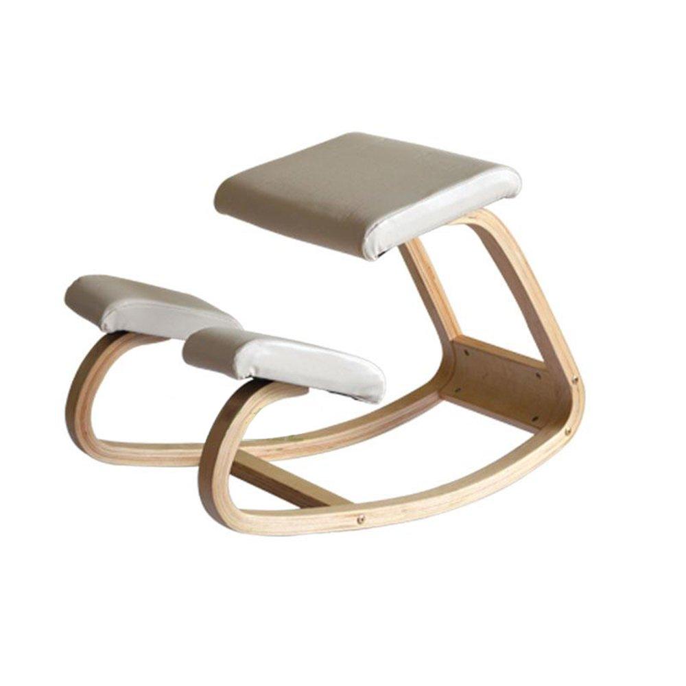 龙飞@ 子供の姿勢チェア、ソリッド背骨補正機能チェア、ホワイトカラーのロッキングチェア、ひざまずいた椅子、子供の学習チェア スツール ( 色 : 白 ) B077MTRH6F 白 白