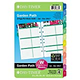 Day-Timer Weekly Planner Refill 2017, Two Page Per Week, Loose Leaf, 5-1/2 x 8-1/2'', Desk Size, Garden Path (13493)