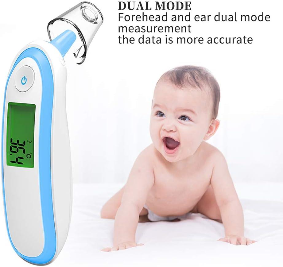 Elektronisches Thermometer Ohrstirntemperatur Klinisches Thermometer Infrarot-Temperaturmessger/ät Baugger Elektronisches Thermometer
