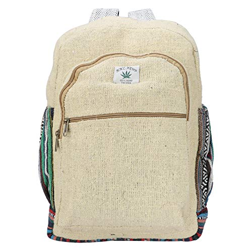 Suman Enterprises's New Himalyan Hemp Laptop Bag Backpack/Traveller Bag, A great Product (Multi- Front Light Yellow)