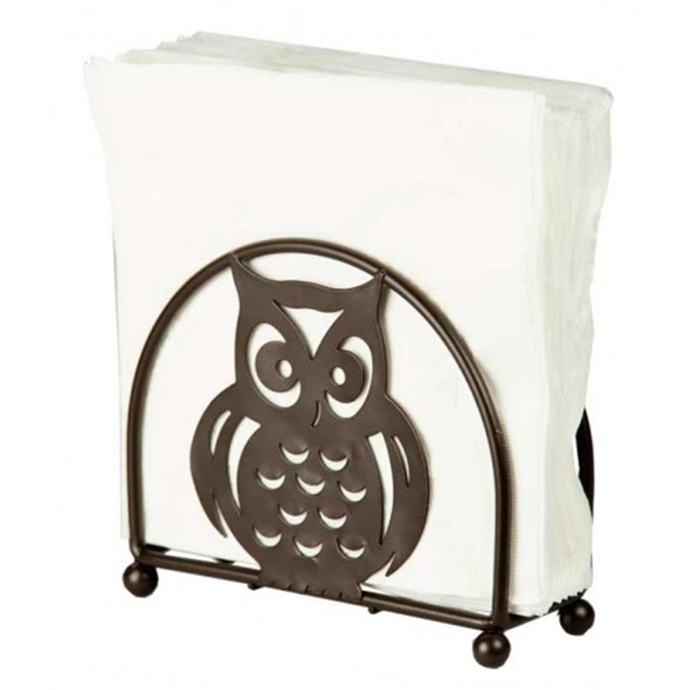 Home Basics Napkin Holder, Bronze with Owl Design HDS Trading Corp NH01782