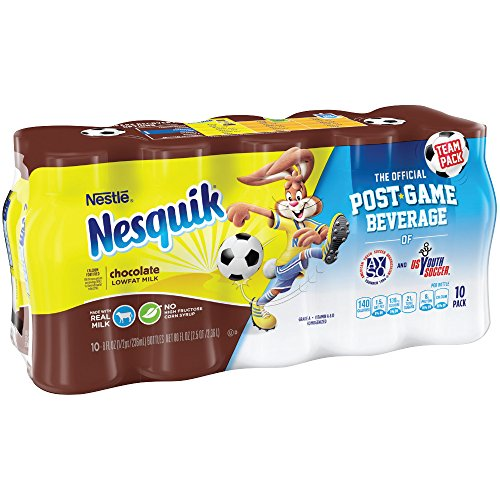 Nesquik Ready to Drink Milk, Chocolate, 10 Count