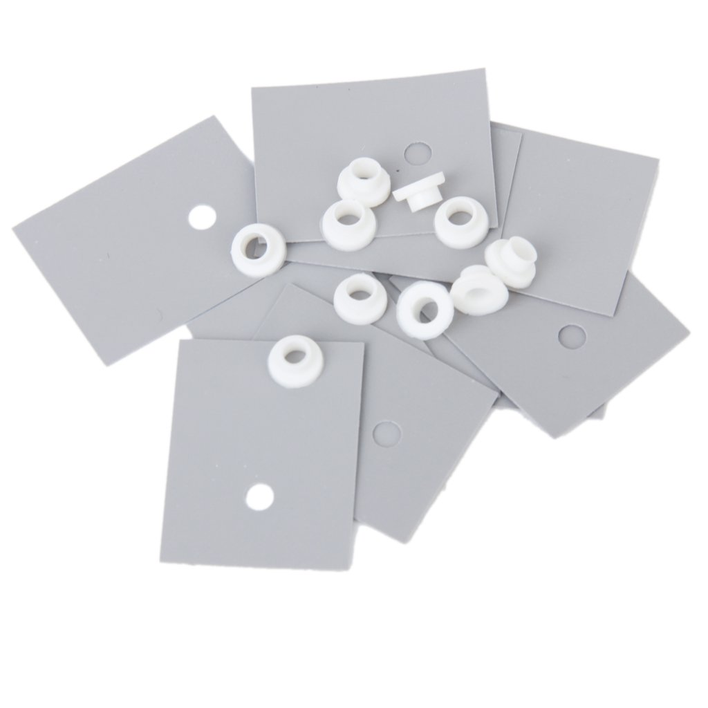 10 pcs TO-220 Silicone Thermal Heatsink Pads +10pcs Insulator Pads W/Insulating Particles for LM78XX/LM317/TDAXX
