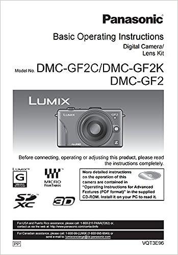 Panasonic Lumix DMC-GF2 Instruction Booklet - Original