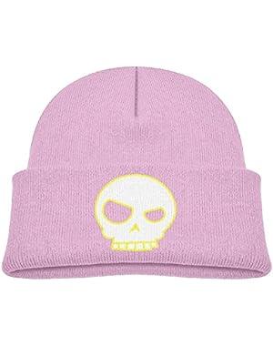 Kids Funny Human Skull Vector Casual Flexible Winter Knit Hats/Ski Cap/Beanie/Skully Hat Cap