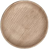"CaterEco Round Palm Leaf 7"" Salad Plates, 50 Pack"