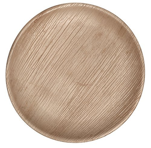 CaterEco-50-Piece-Palm-Leaf-Round-7-Salad-Plates-All-Natural-100-Compostable-Disposable-Party-Plates