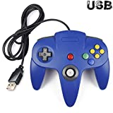 kirby and the crystal shards 64 - iNNEXT Classic Retro N64 Bit USB Wired Controller for Windows PC MAC Linux Raspberry Pi 3 (Blue)