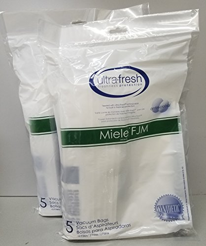 10 Jasper (Ultra Fresh Miele Type FJM Allergen Filtration Dust Bag (10 Pack + 4 Filters) S241 - S256i ✦ S290 and S291 ✦ S300i - S399 ✦ S500 - S578 ✦ S700 - S768 ✦ S4000 - S4999 ✦ S6000 (C2))