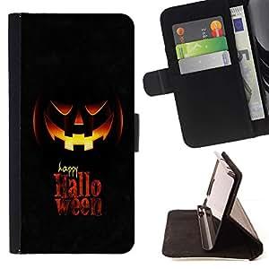 For Huawei Ascend P8 (Not for P8 Lite) Case , Feliz Halloween- la tarjeta de Crédito Slots PU Funda de cuero Monedero caso cubierta de piel
