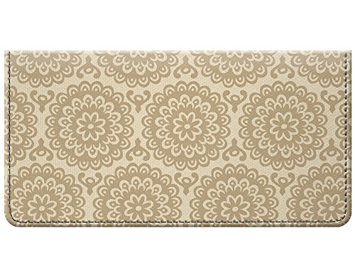 Snaptotes Floral Neutral Vintage Design Checkbook Cover
