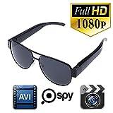 KINGMAK Full HD 1080P Retro Sunglasses Glasses Spy Hidden Pinhole Camera Security Eyewear Cam DVR DV Cam Audio Video Recorder Up to 32G