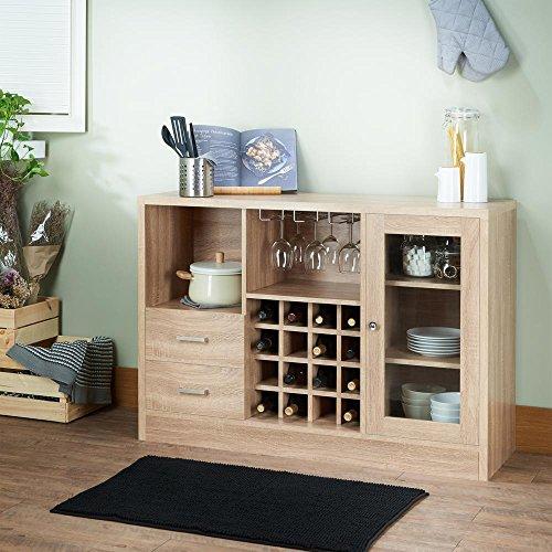Major-Q Rustic Serving Cabinet for Living Room, Rectangular, Wood Rustic and Oak Finish, 47 x 16 x 33 - Living Room Rectangular Cabinet